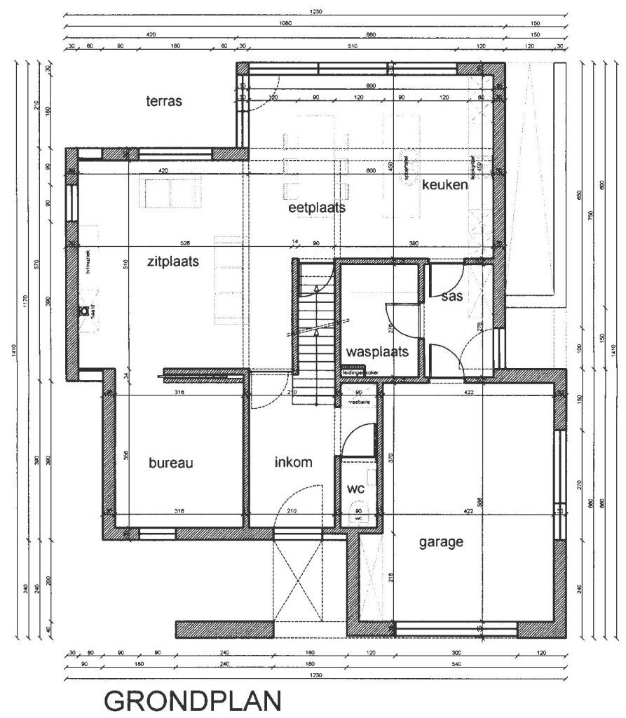 bouwdienst voorbeeld grondplan stad mechelen
