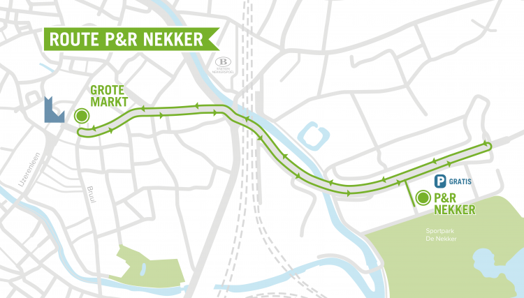 shopping shuttle route noord kaartje